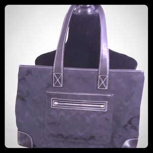 Black signature Coach bag
